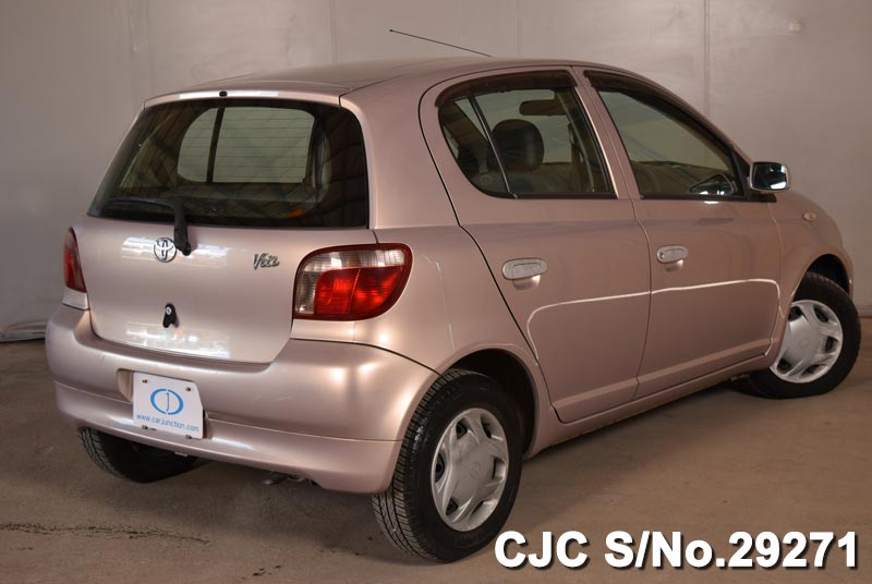 used toyota vitz yaris 1999 in pink colour for sale in. Black Bedroom Furniture Sets. Home Design Ideas