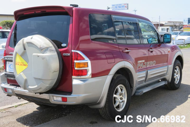 Mitsubishi Pajero in Red 2 Tone for Sale Image 2