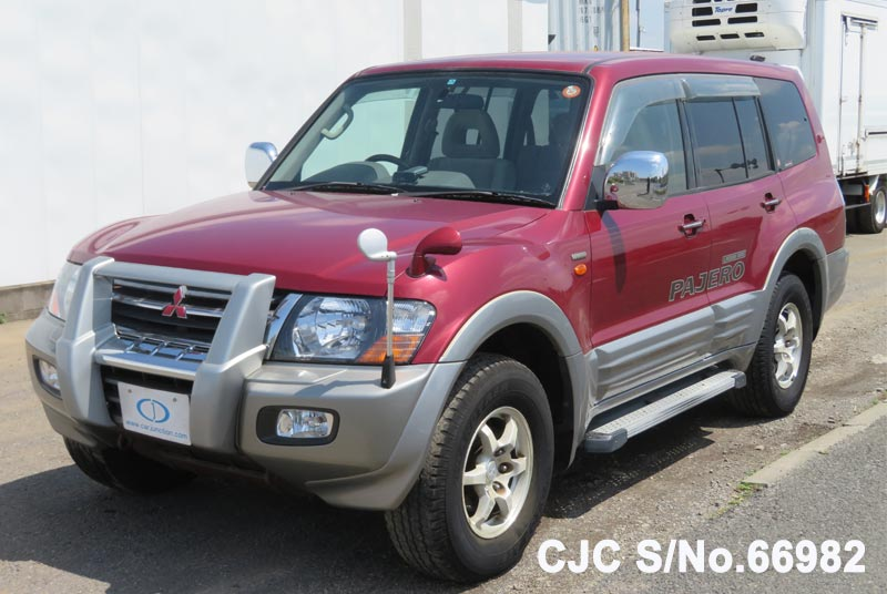 Mitsubishi Pajero in Red 2 Tone for Sale Image 3