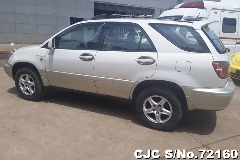 Toyota Harrier in White 2 Tone for Sale Image 1