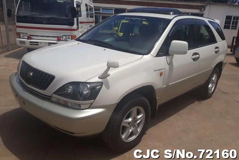Toyota Harrier in White 2 Tone for Sale Image 3