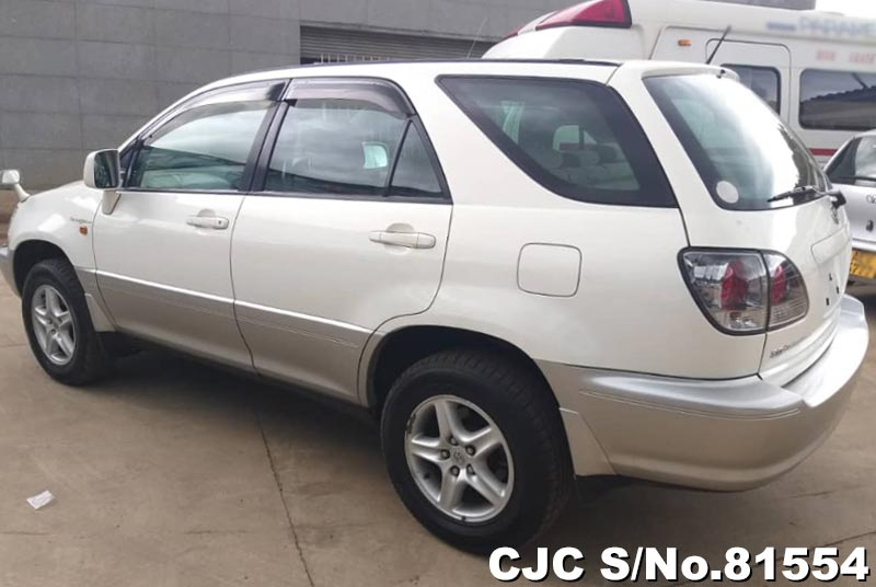 Toyota Harrier in Pearl White for Sale Image 1